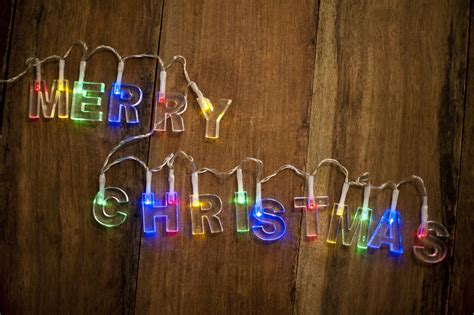 stock photo  merry christmas lights freeimageslive