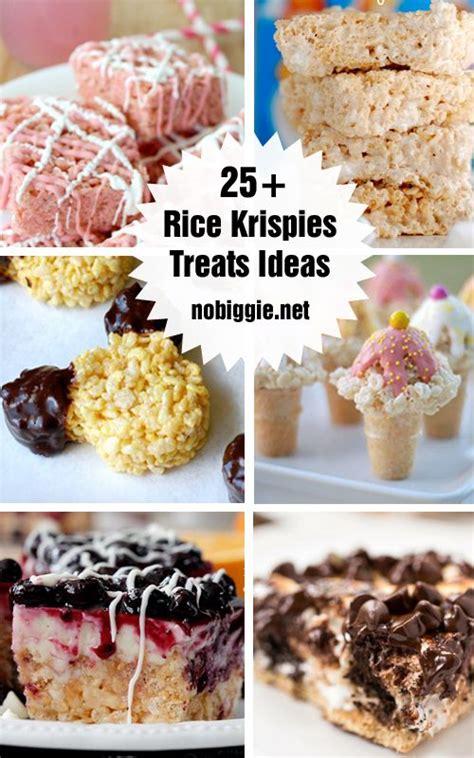 25 rice krispie treat ideas butter rice krispie treats
