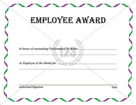 employee certificate templates best employee award template now