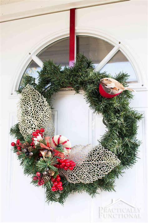 Diy Winter Wreaths For Front Door Diy Winter Greenery Wreath