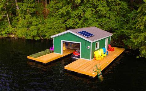 floating boat house cost boathouses nydock floating docks pontoons pipefusion