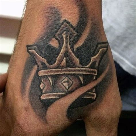 crown hand tattoo crown tattoos for design ideas for guys