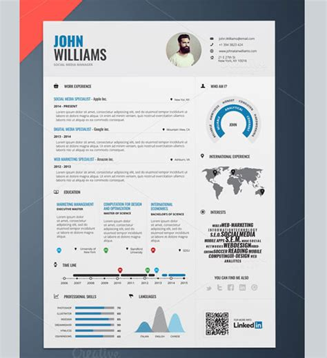 Amazing Resume Templates Free by 50 Awesome Resume Templates 2016