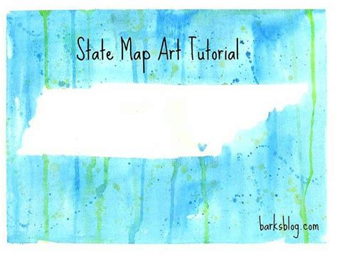 watercolor map tutorial cool state map art tutorial diy video using watercolors