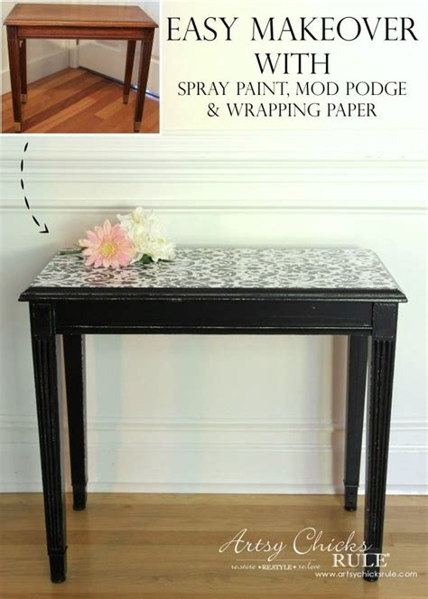 Decoupage Furniture With Wrapping Paper - best 20 decoupage coffee table ideas on