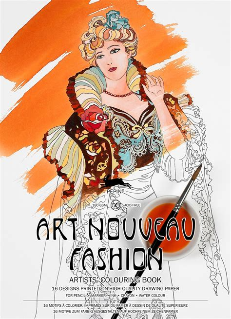 Nouveau Fashion nouveau fashion colouring book by pepin press