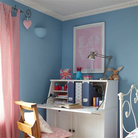 farrow and ball lulworth blue bedroom pretty blue and white girl s bedroom housetohome co uk