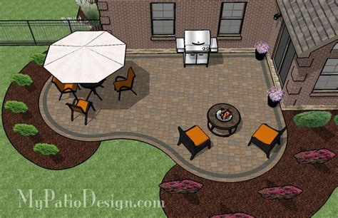 cozy curvy paver patio design layouts material list