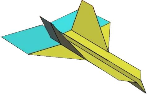 Folding Paper Aeroplanes - how to fold the wildebeest paper airplane