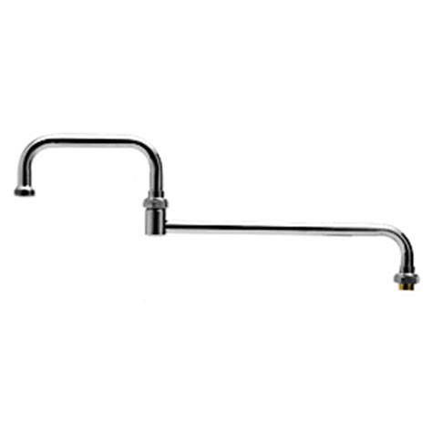 t s brass commercial kitchen faucets t s brass 069x 24 quot double jointed nozzle commercial