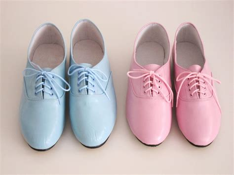 pastel oxford shoes lighting