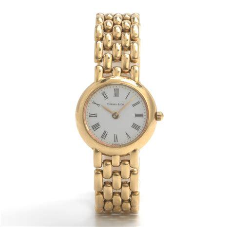 A Tiffany & Co Ladies' 18k Gold Watch , 12.13.13