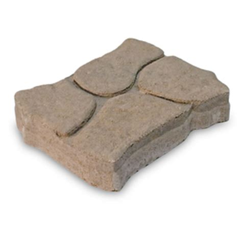 Lowes Patio Rocks by Shop Brown Charcoal Alameda Concrete Patio Common