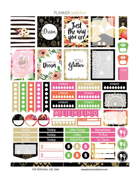 free printable planner sticker 2016 web stickers png kamos sticker