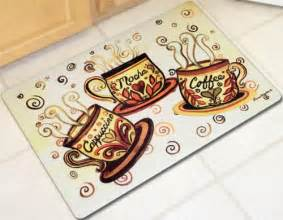 coffee bistro cushion mat java cups kitchen laundry rug