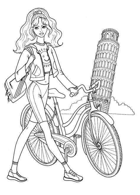 girl model coloring page fashionable girls coloring pages 7 colouring mania
