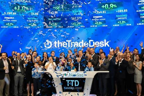 the trade desk ipo the trade desk surges in day of trading wsj