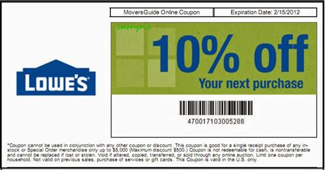 coupons for lowes home improvement 28 images free