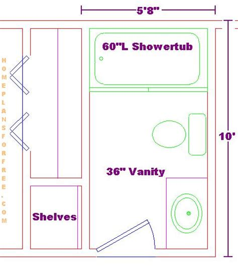 small bathroom floor plans 5 x 8 5x10 bathroom floor plan addition pinterest bathroom