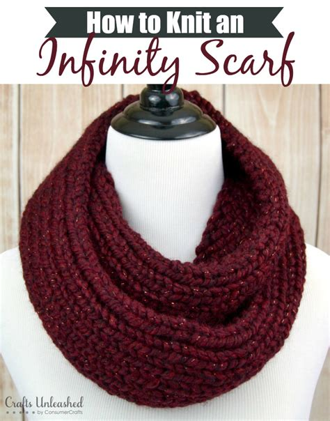 how to knit easy how to knit an infinity scarf crafts unleashed