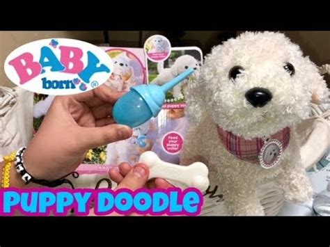 doodle puppy reviews baby born puppy doodle from zapf creations box opening and