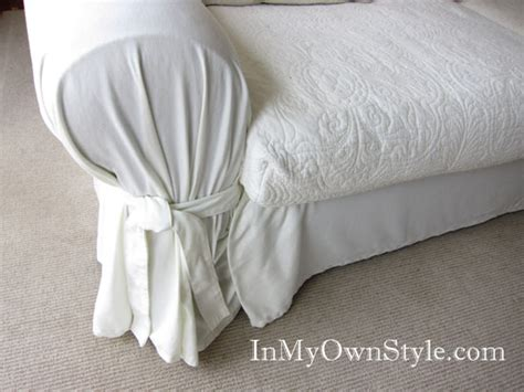 pillow arm sofa slipcover how to cover a chair or sofa with a loose fit slipcover