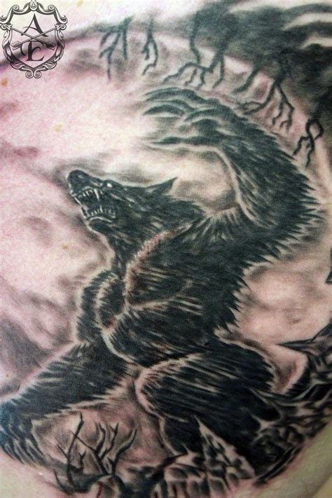 werewolf tattoos done by ambrose by seanspoison