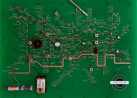 electric circuit board map turned into circuit board radio