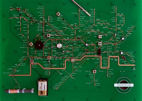 electric circuit board for map turned into circuit board radio