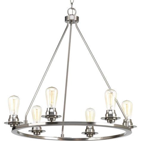 brushed nickel chandelier world imports bayonne collection 6 light brushed nickel