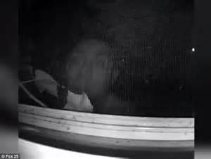 bathroom window spy peeping tom caught on film outside boston woman s bedroom