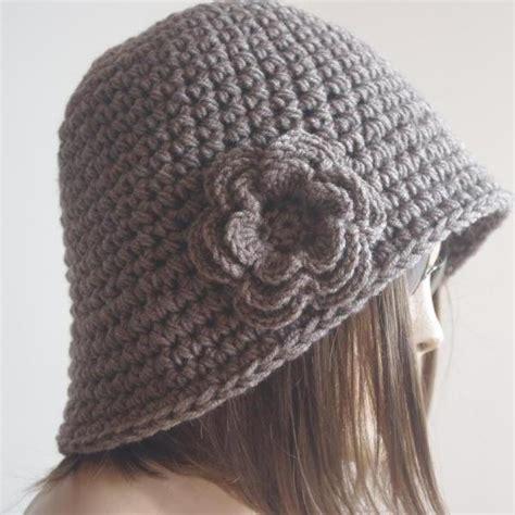 Fedorafashion Brindle Knit womens fedora hat chunky knit slouchy brown melange