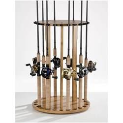 Rack Holder by Organized Fishing 24 Rod Floor Rod Rack 231536