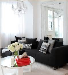 Living Room Ideas With Black Sectional Black Couches And Living Rooms On