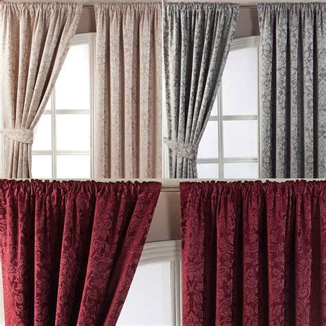 lined bedroom curtains ready made velvet jacquard pencil pleat lined ready made curtains