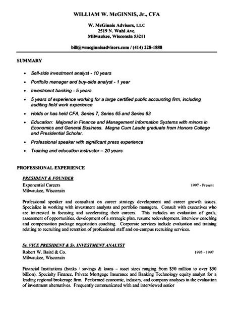 Executive Resume Writing by Executive Resume Writing Free Sles Exles