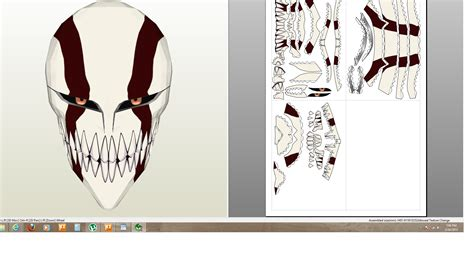 Ichigo Hollow Mask Papercraft - ichigo hollow color by houay2005 on deviantart