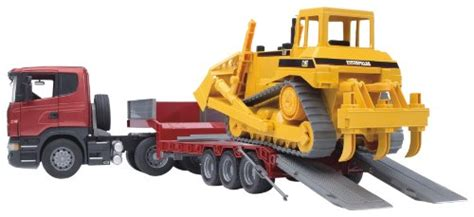 Mainan Anak Scania R Series Low Loader Truck With Cat Bulldozer bruder 3555 scania r series low loader truck 0 rc hobby store