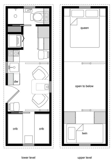 floor plans for a small house 8x24 family one crib w murphy bed and storage loft tiny house tiny house design tiny house