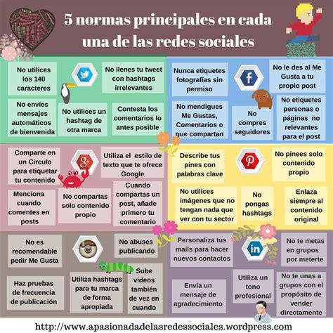 preguntas interesantes en tinder 5 normas de las principales redes sociales infografia