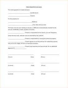 One Page Rental Agreement Template by 4 Simple One Page Rental Agreementreport Template