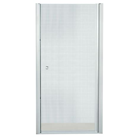 Installing Sterling Shower Door Sterling Finesse 31 1 2 In X 65 1 2 In Semi Frameless Pivot Shower Door In Silver With Handle