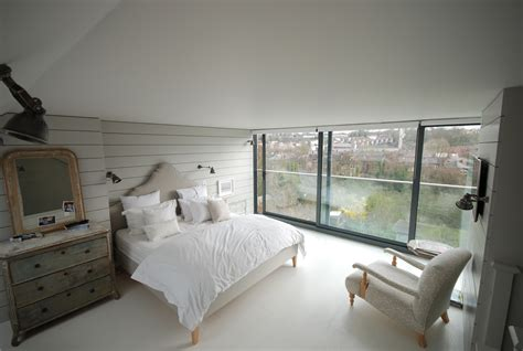 bedroom with glass roof contemporary loft conversion bedroom with full width sliding glass