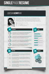 graphicriver clean single page resume avaxhome