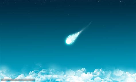 Minimalism download wallpaper clouds comet blue minimalism free