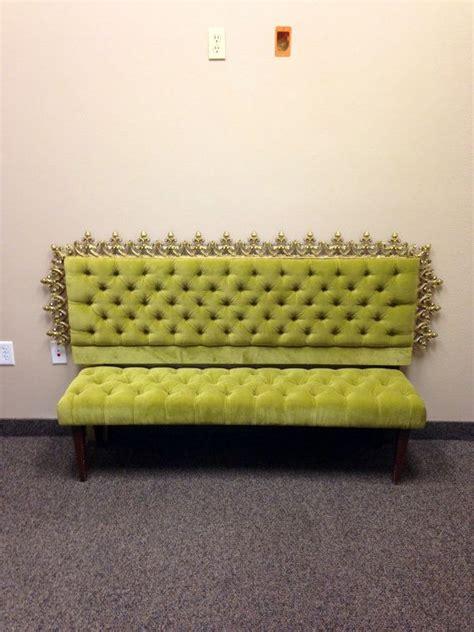 vintage tufted headboard reserved for erin vintage tufted velvet upholstered