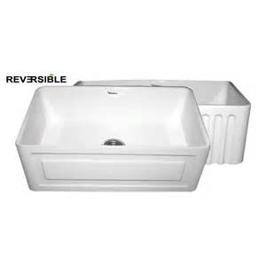 Whitehaus Sinks Kitchen Whitehaus Whflrpl3018 Farmhaus Fireclay Reversible Series Sink Atg Stores