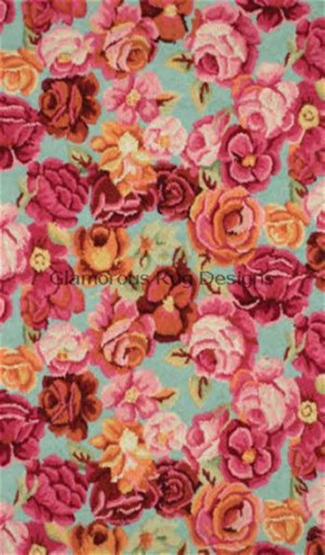 large flower rug second marketplace multi colored large flower rug roseann 1 prim