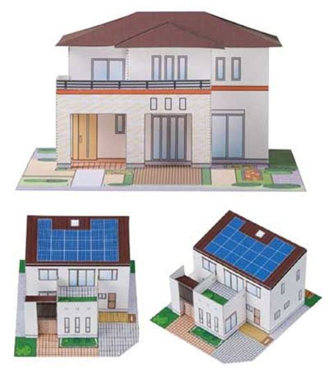 house paper rigged 3d model 3d japanese modern house paper model pepakura corner