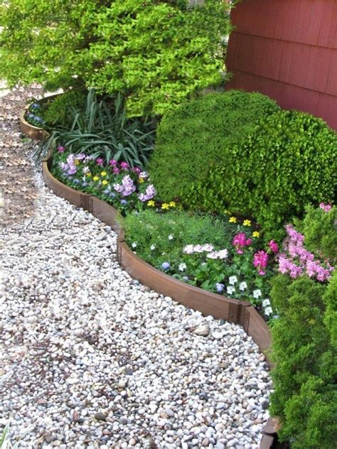 backyard pebble gravel garden with gravel is a nice solution for outdoor one decor